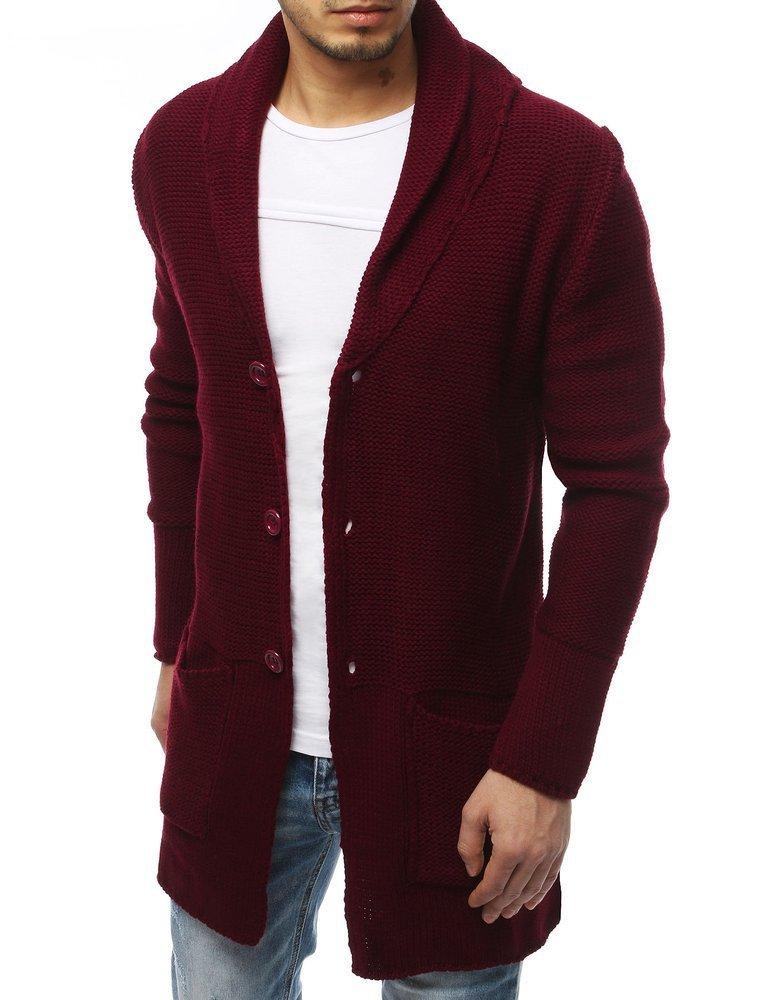 Pánsky sveter bordový