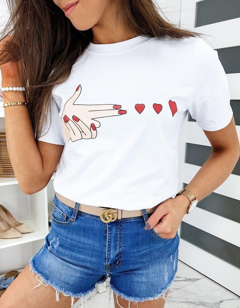 T-shirt damski MISTIC biały RY1377
