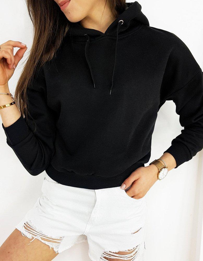 Bluza damska z kapturem CAPPI czarna BY0409