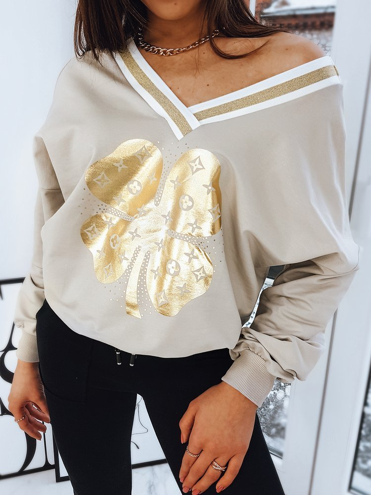 Bluza damska ALEXA jasnobeżowa BY0737