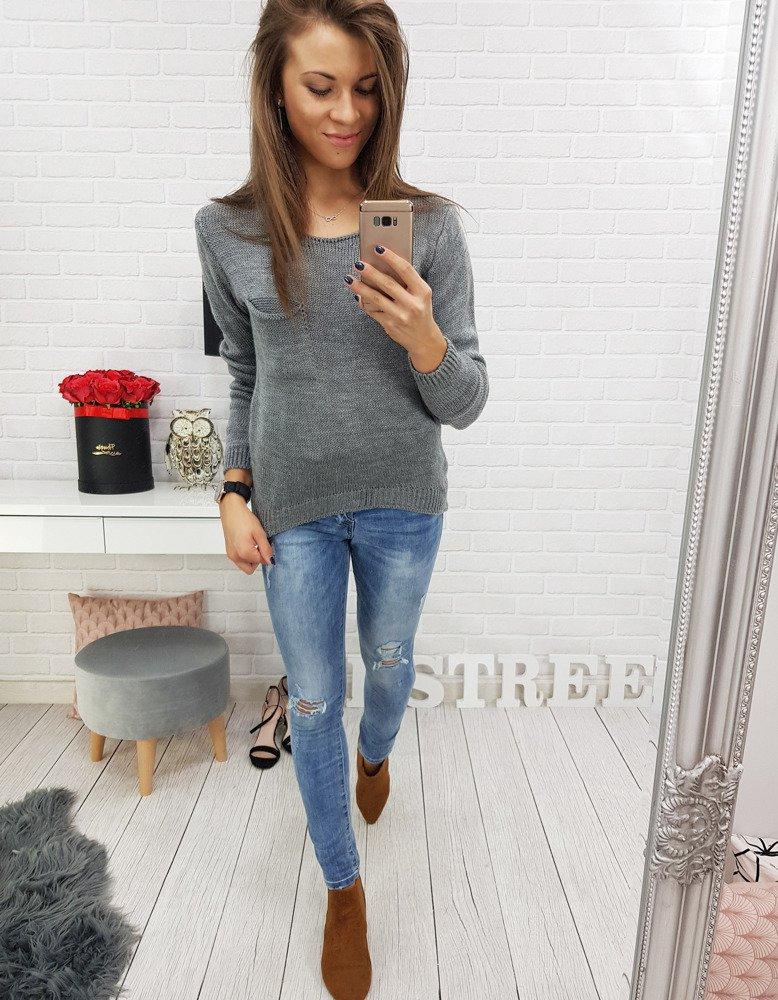 Sweter damski CLASSIC antracytowy MY0312