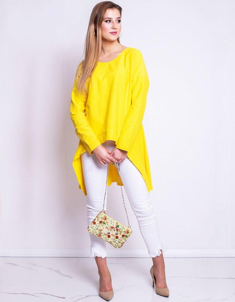 Bluzka damska LOOK żółta (ry0614)