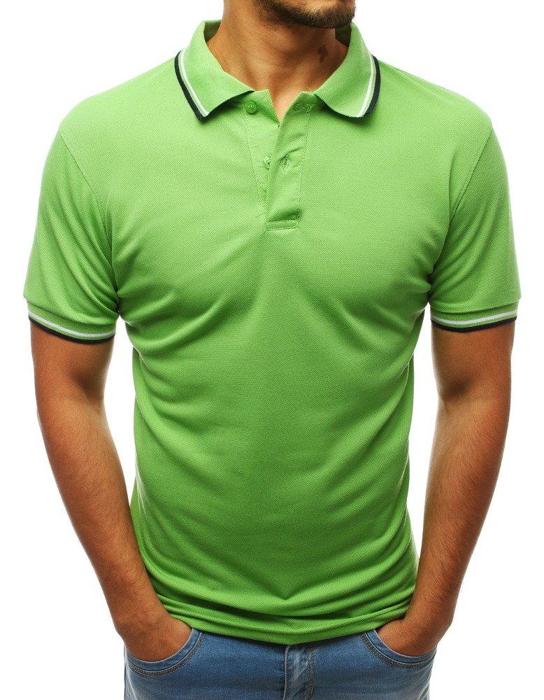 Pánske svetlo zelené polo tričko