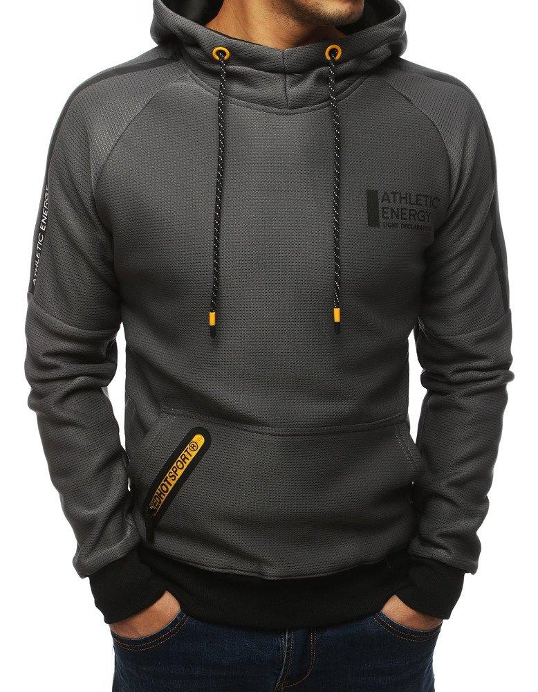 Bluza męska z kapturem antracytowa BX4184