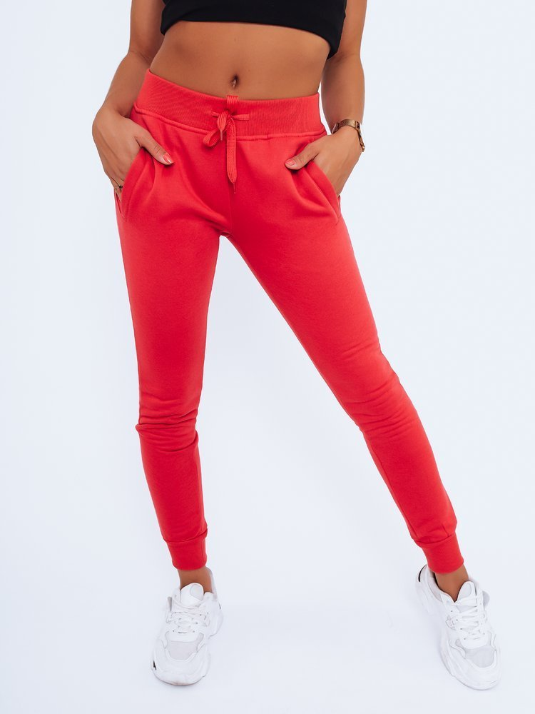 Spodnie damskie dresowe FITS czerwone UY0578