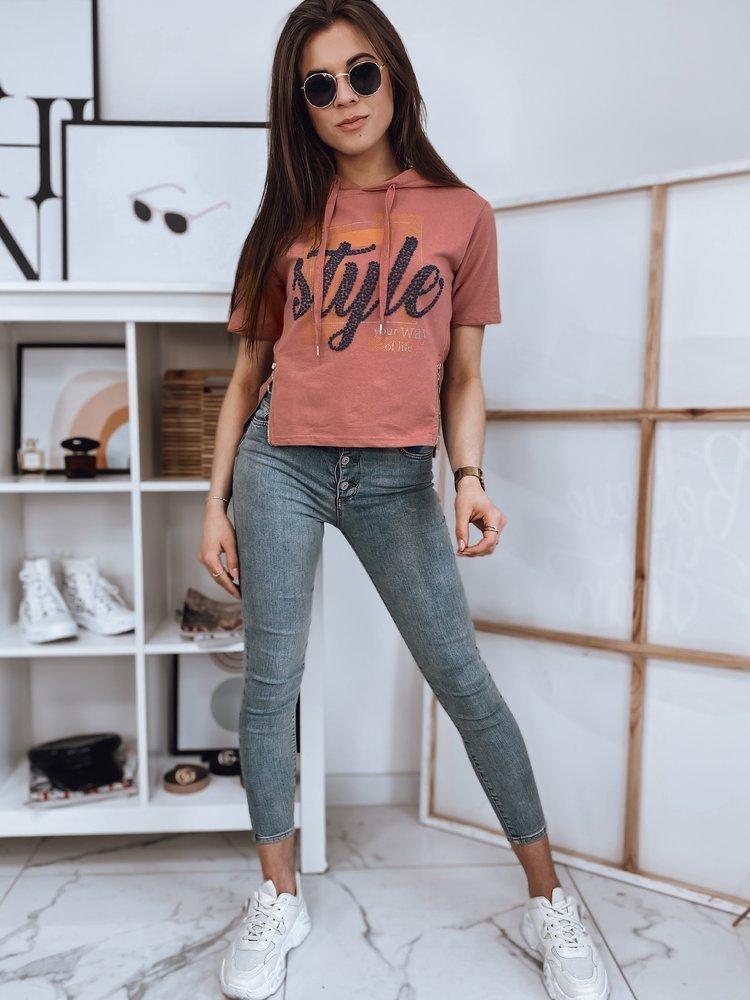 T-shirt damski STYLES różowy Dstreet RY1646