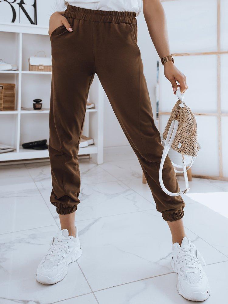 Spodnie damskie dresowe STIVEL khaki Dstreet UY0907