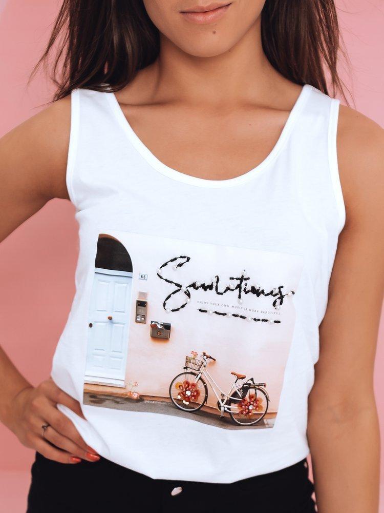 T-shirt damski BIKE biały Dstreet RY1769