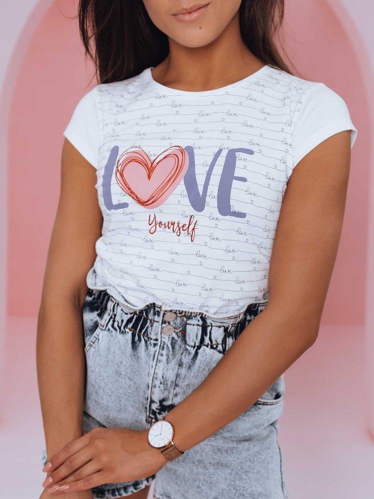 T-shirt damski LOVE YOURSELF biały Dstreet RY1840