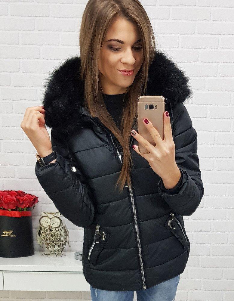 Kurtka damska VIP zimowa pikowana czarna TY0419