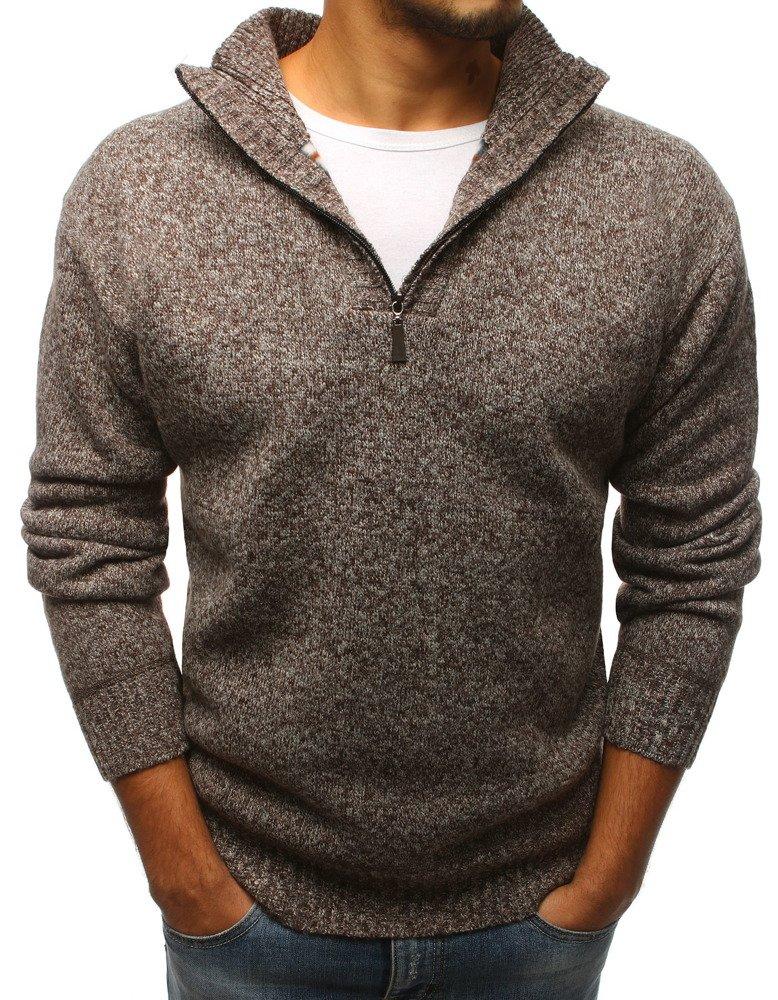 Hnedý pánsky sveter (wx1090)