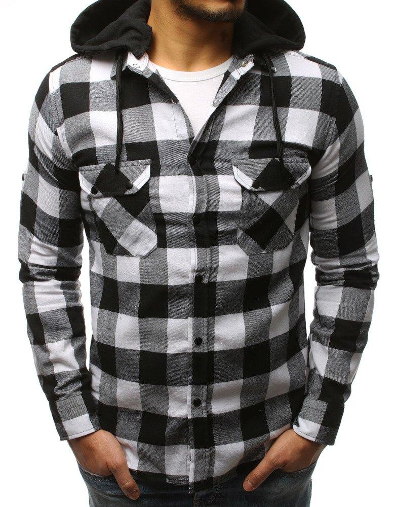 Pánska košeľa bielo-čierna