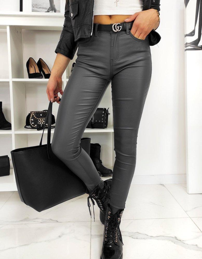 Spodnie damskie woskowane DALIA grafitowe UY0634