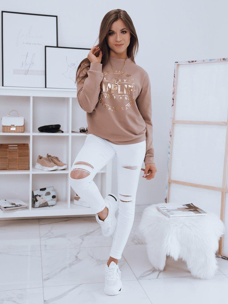Bluza damska SIMPLIFY beżowa Dstreet BY0651