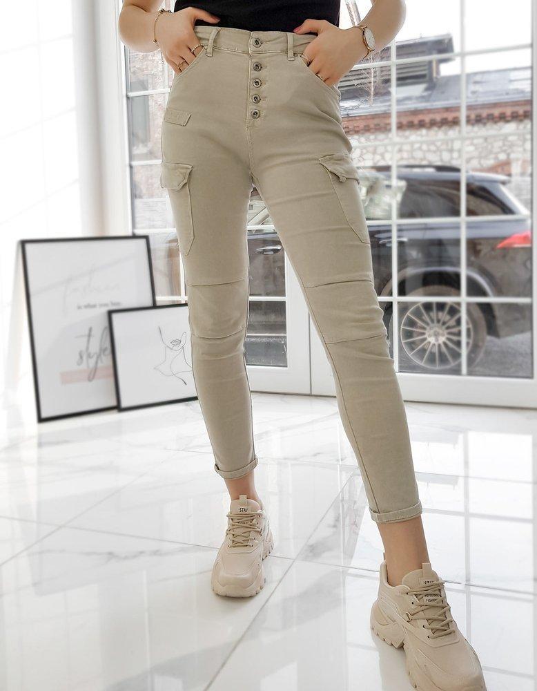 Spodnie damskie ZOE beżowe UY0726