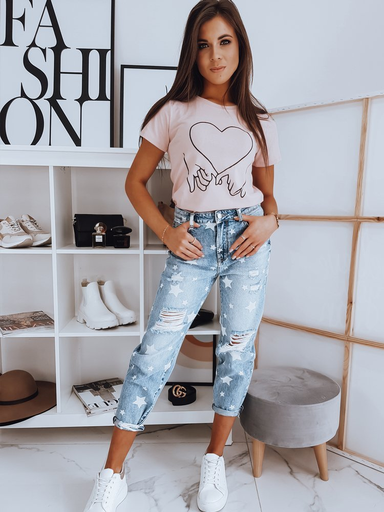 T-shirt damski ROMANCE różowy RY1605