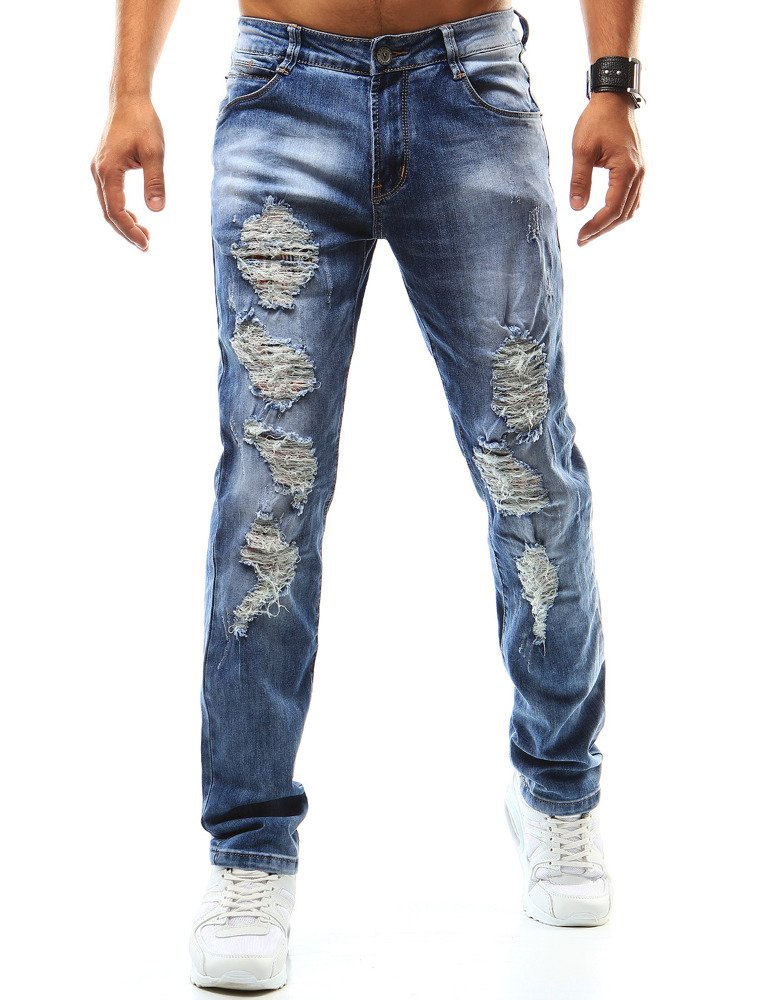 Spodnie jeansowe męskie niebieskie UX0942