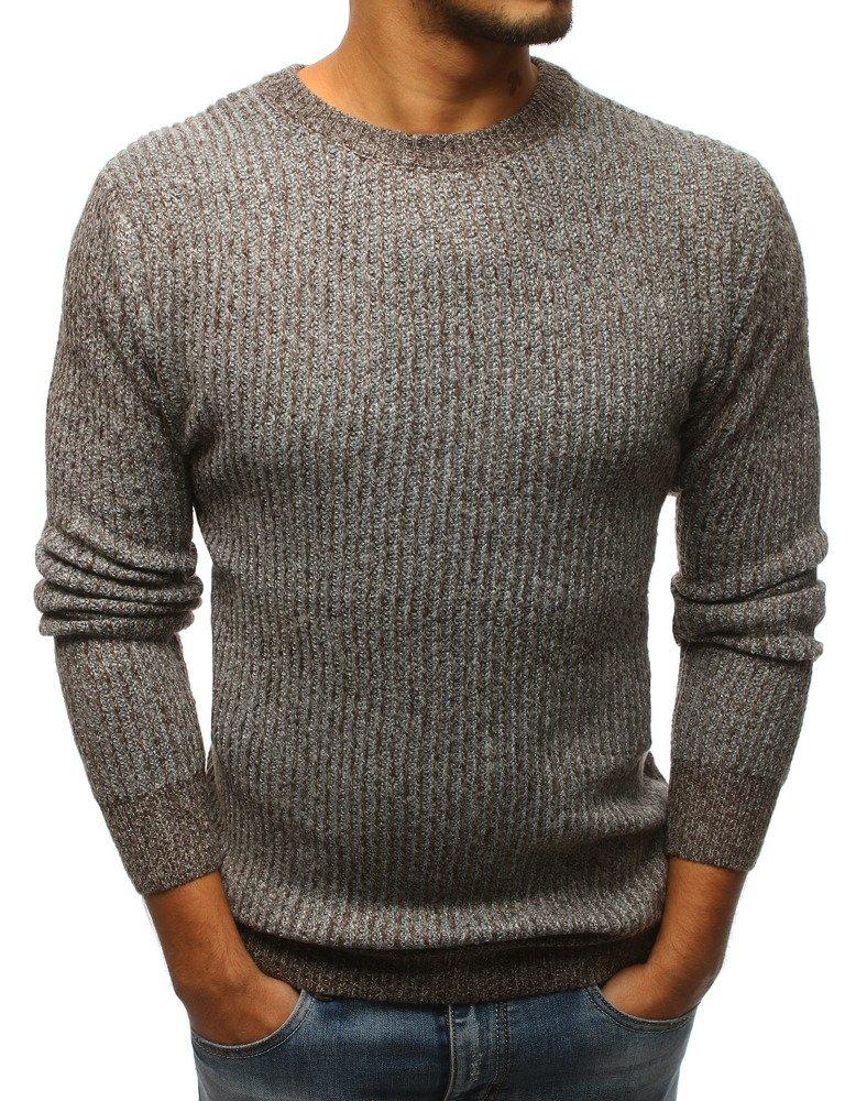 Hnedý pánsky sveter (wx1100)