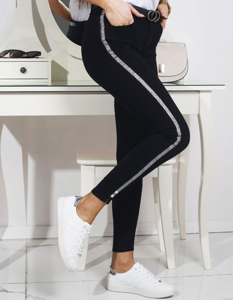 Čierne dámske nohavice (uy0161)