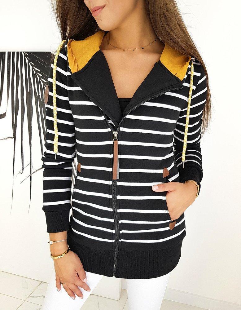 Bluza damska LONG MARINE czarna BY0599