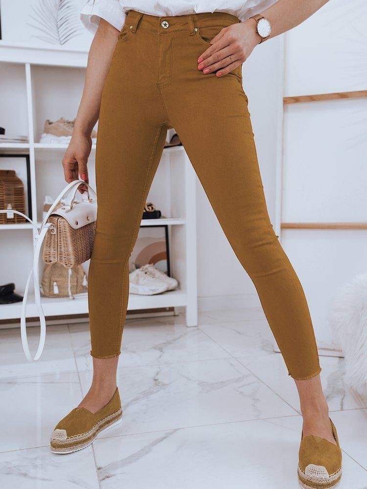 Spodnie damskie jeansowe BIJU kamelowe Dstreet UY0697