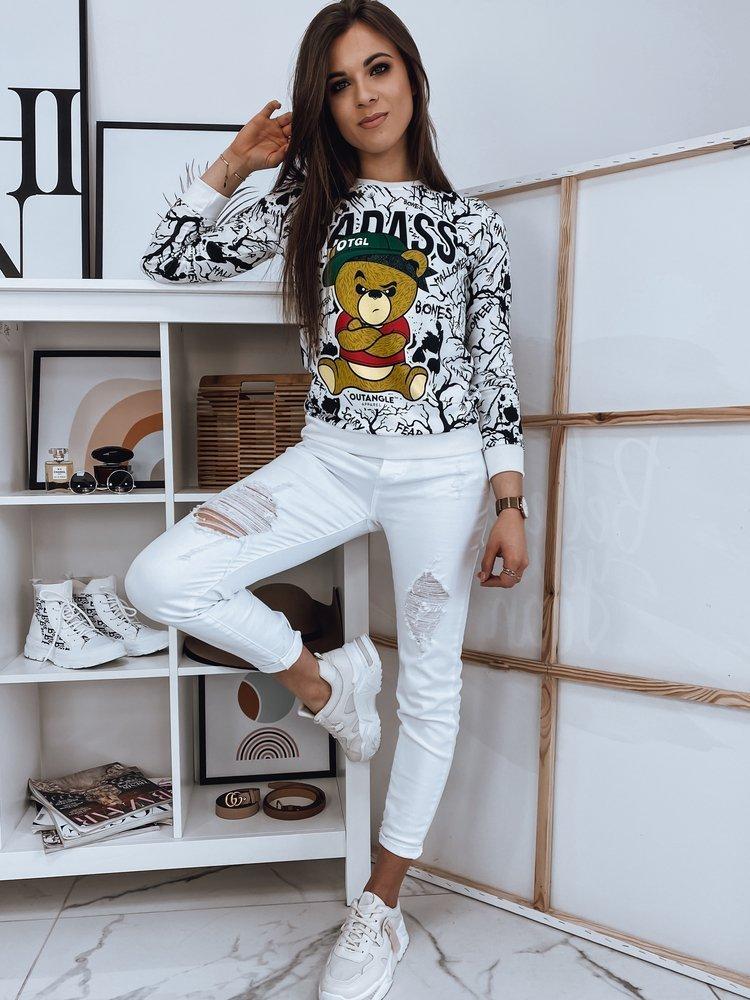Bluza damska BONNY BEAR biała Dstreet BY0877