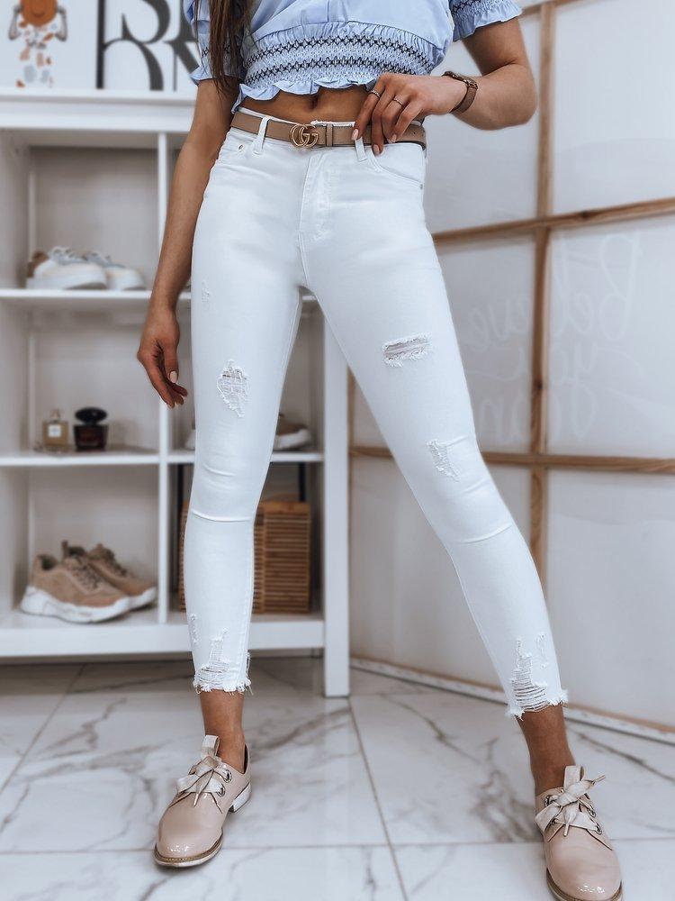 Spodnie damskie jeansowe MISSE białe Dstreet UY0875