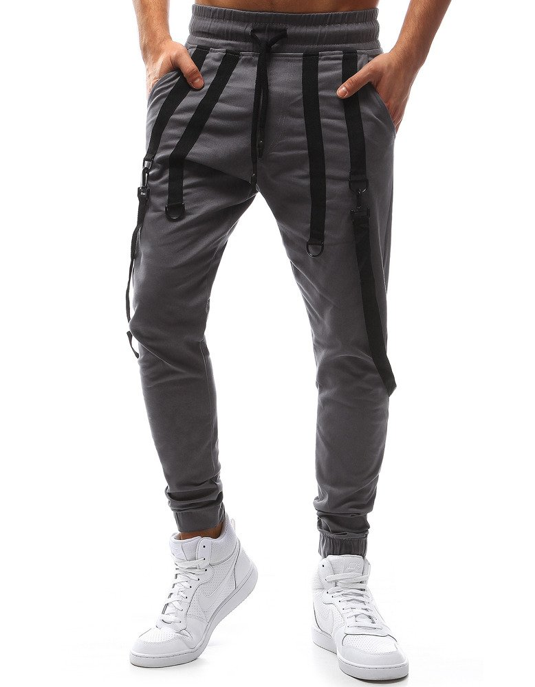 Pánske bežecké nohavice svetlo sivé
