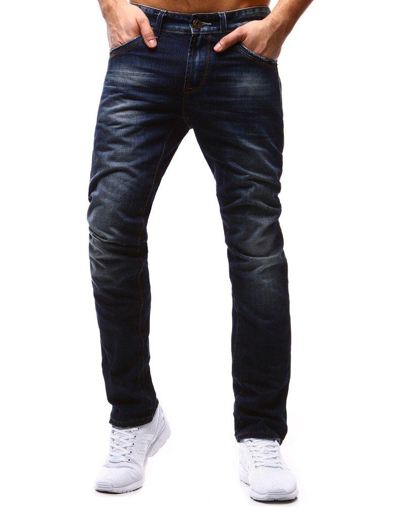Spodnie jeansowe męskie niebieskie UX1187