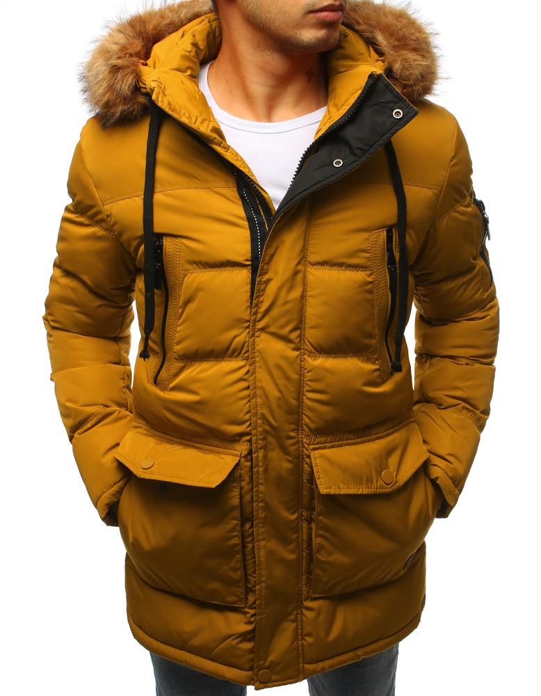 Žltá pánska bunda na zimu (tx2313)