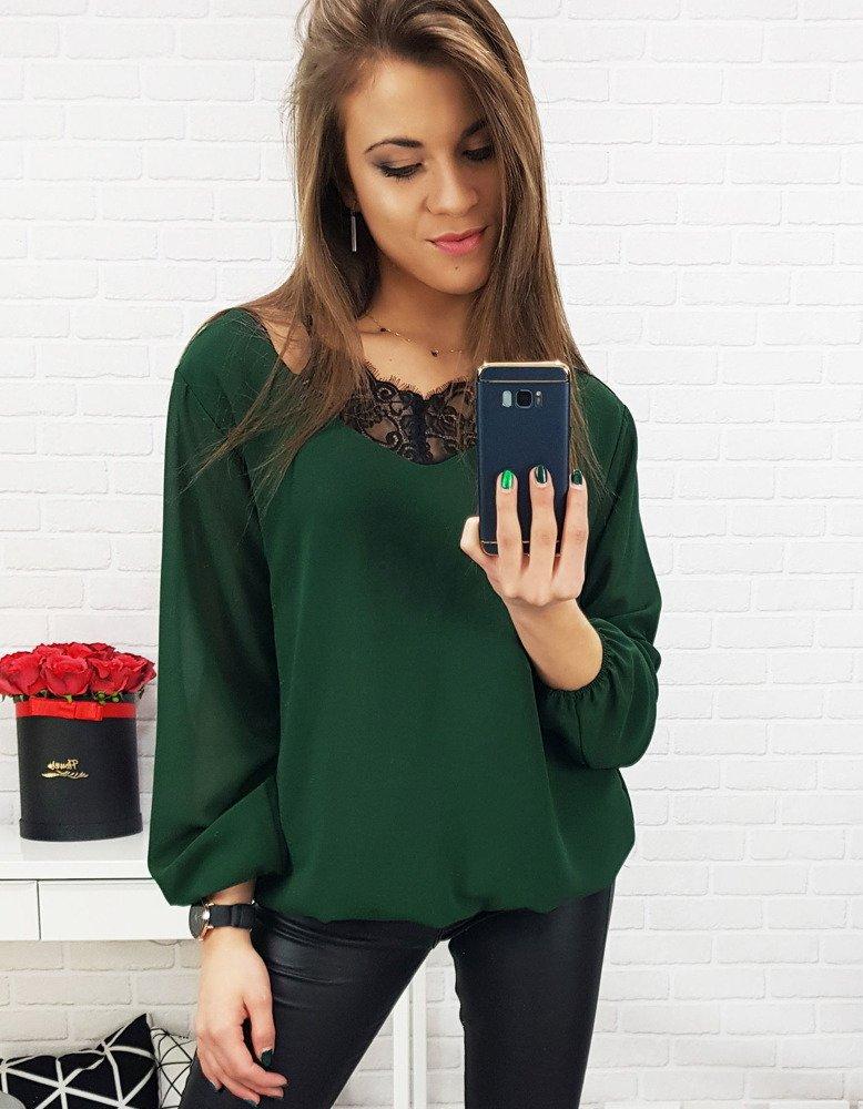 Zielona bluzka damska BREEZE (ry0581)