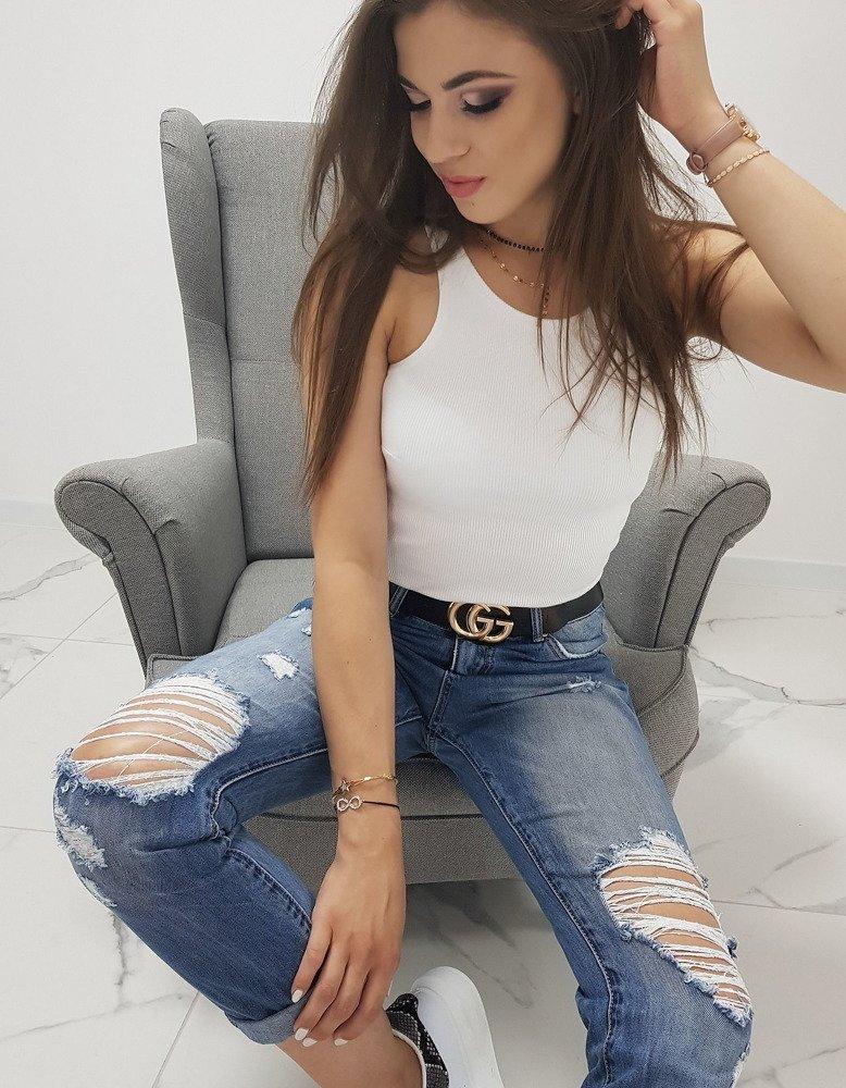 Spodnie damskie SWEET BOYFRIEND jeansowe UY0171