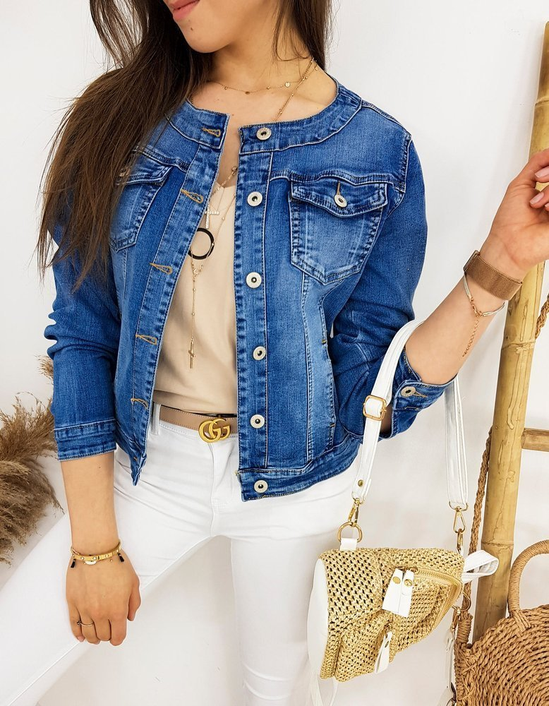 Kurtka damska jeansowa CHANELLES II niebieska TY1235