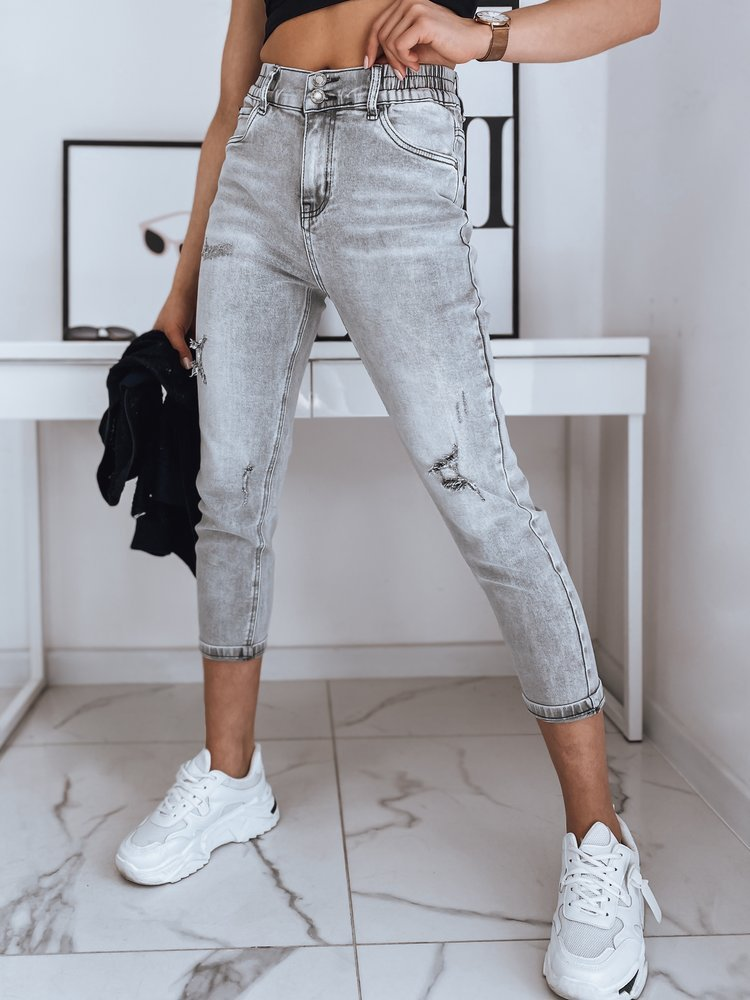 Spodnie damskie jeansowe WIRA jasnoszare Dstreet UY0882