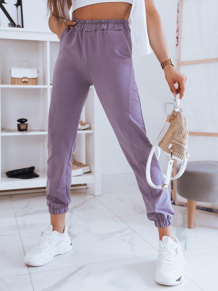 Spodnie damskie dresowe STIVEL jagodowe Dstreet UY0937