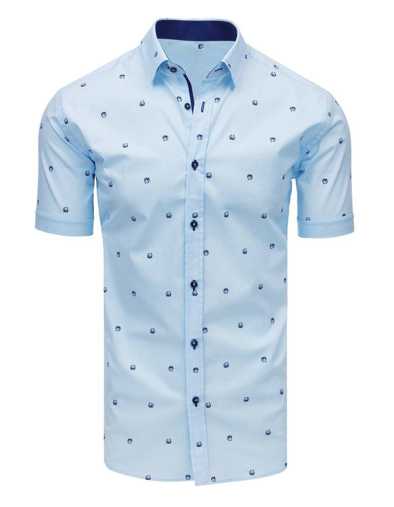 Pánska košeľa so vzorom svetlomodrá