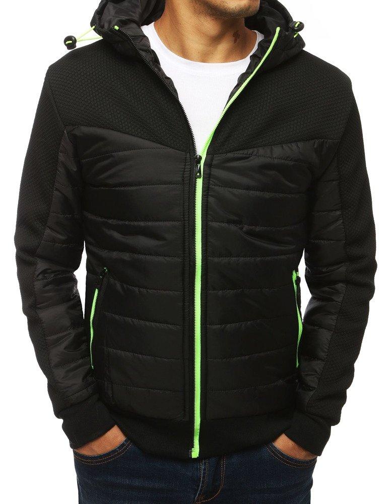Čierna pánska bunda s kapucňou (tx2965)