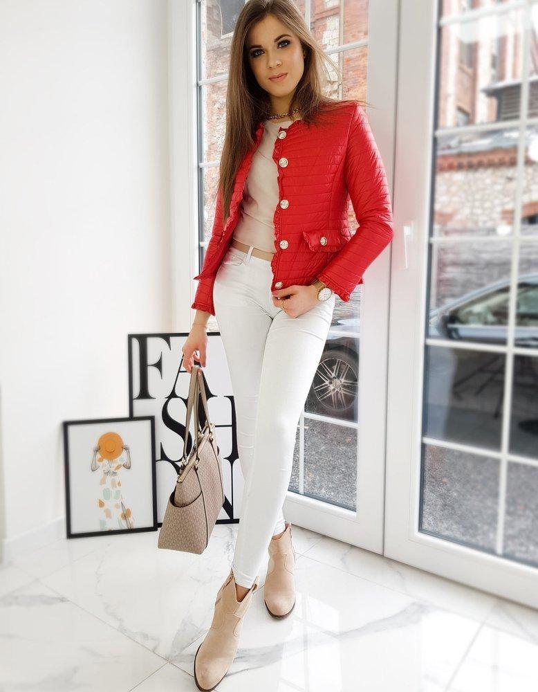 Krásna červená dámska bunda LIORE.