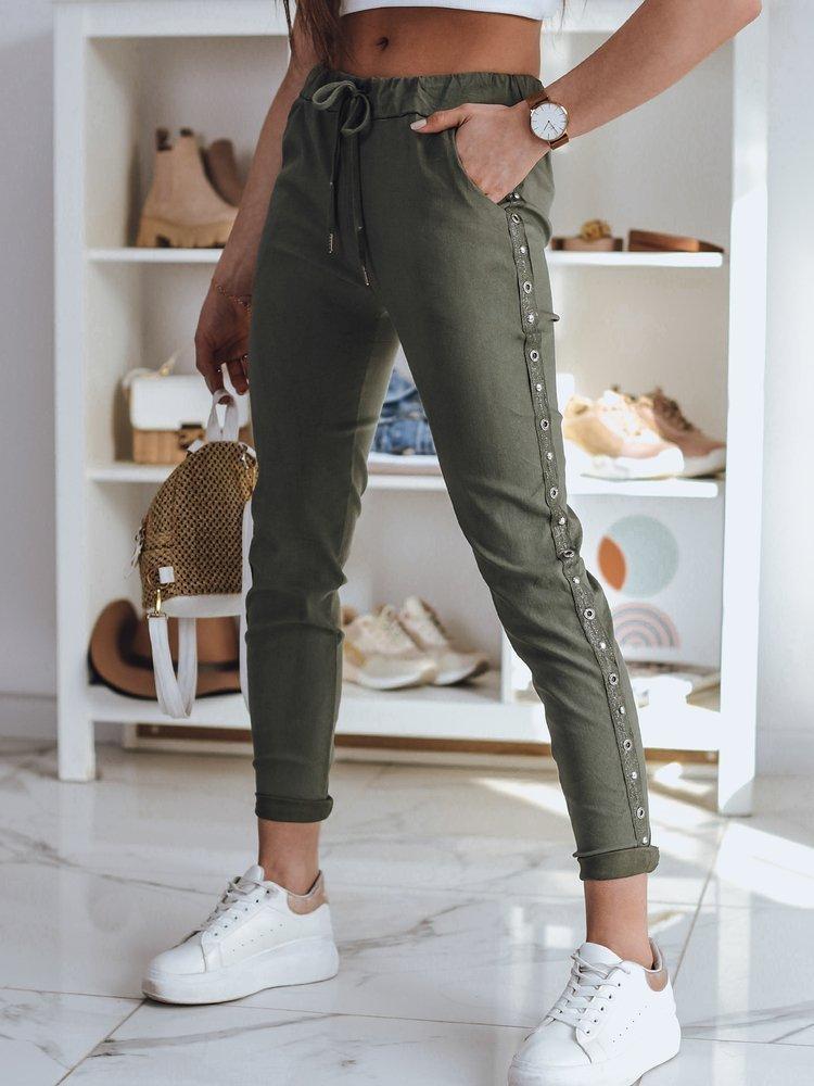 Spodnie damskie dresowe FEND khaki Dstreet UY0782