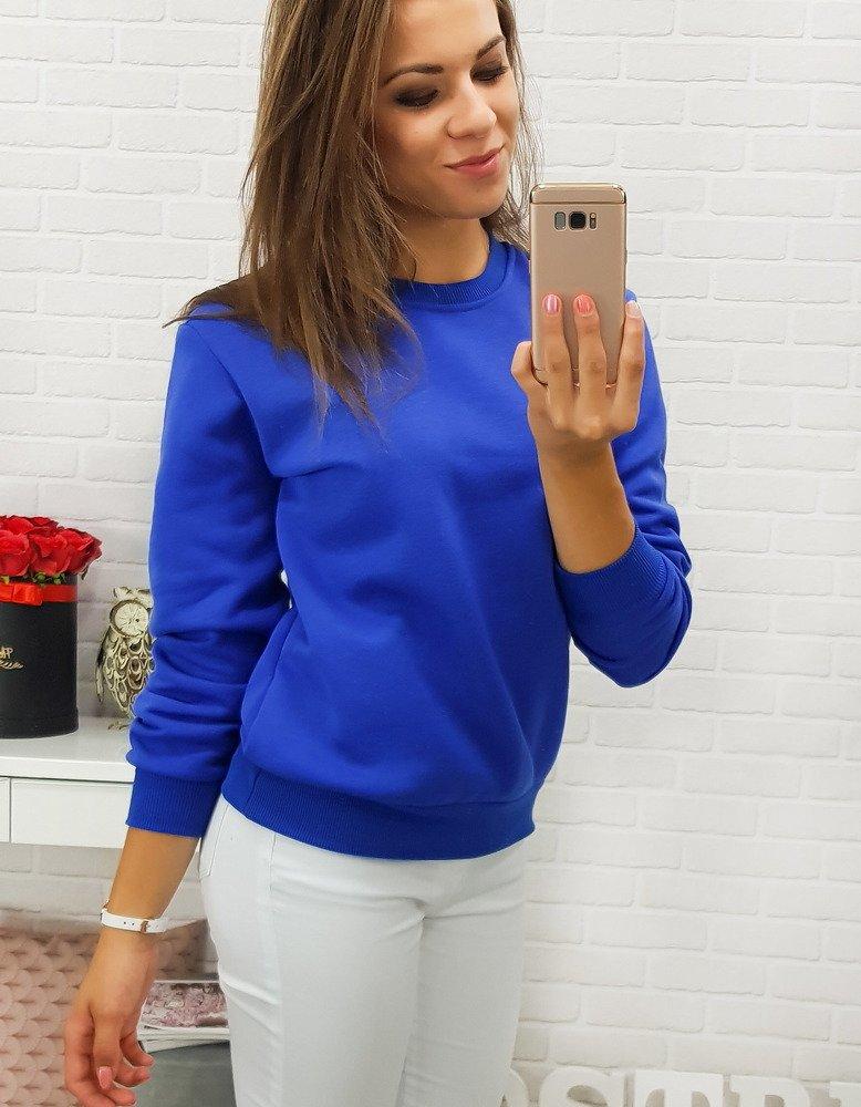 Bluza damska FASHION II niebieska BY0154