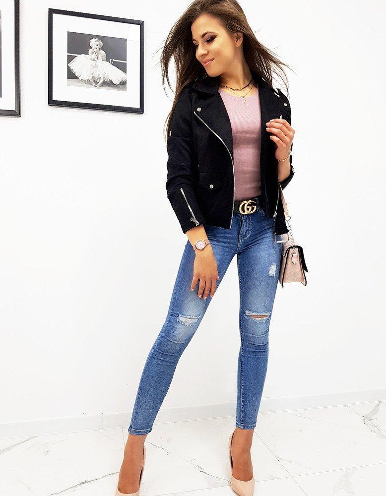 Čierna dámska prechodná bunda (ty0557)
