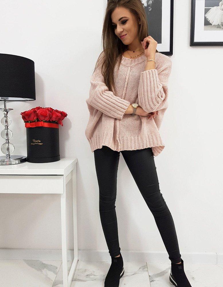 Trendový ružový dámsky sveter VIRGIN (my0619)