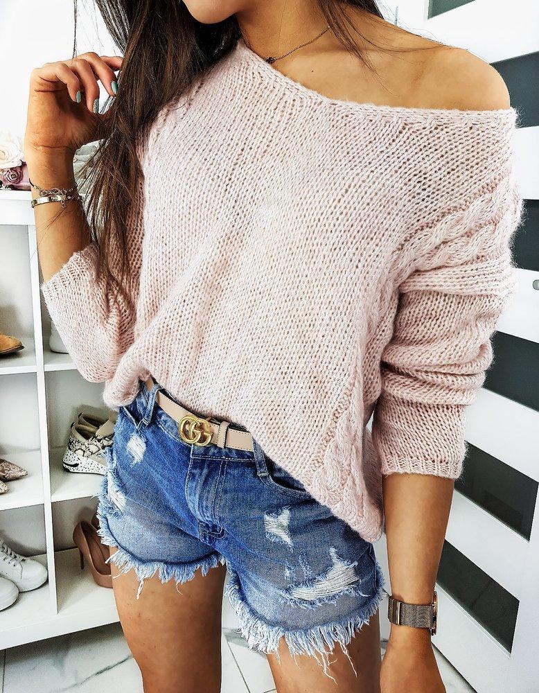 Ružový dámsky sveter SIMONE (my0663)