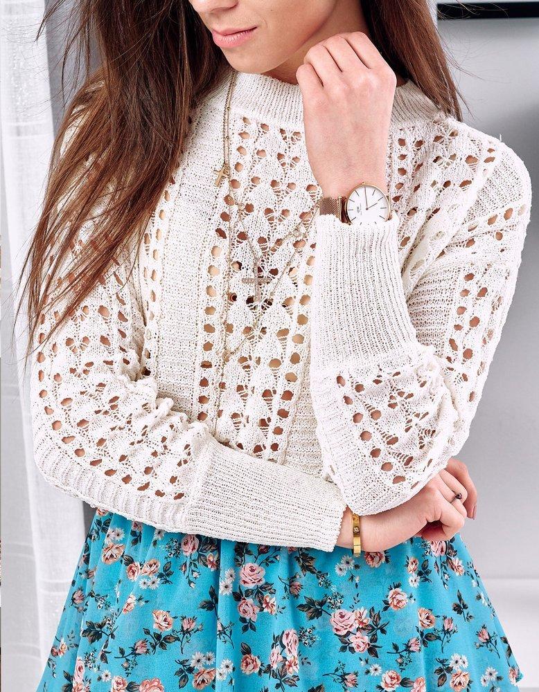 Sweter damski ALANDER ecru MY0737