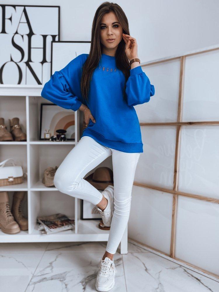 Bluza damska FOCUS niebieska Dstreet BY0899