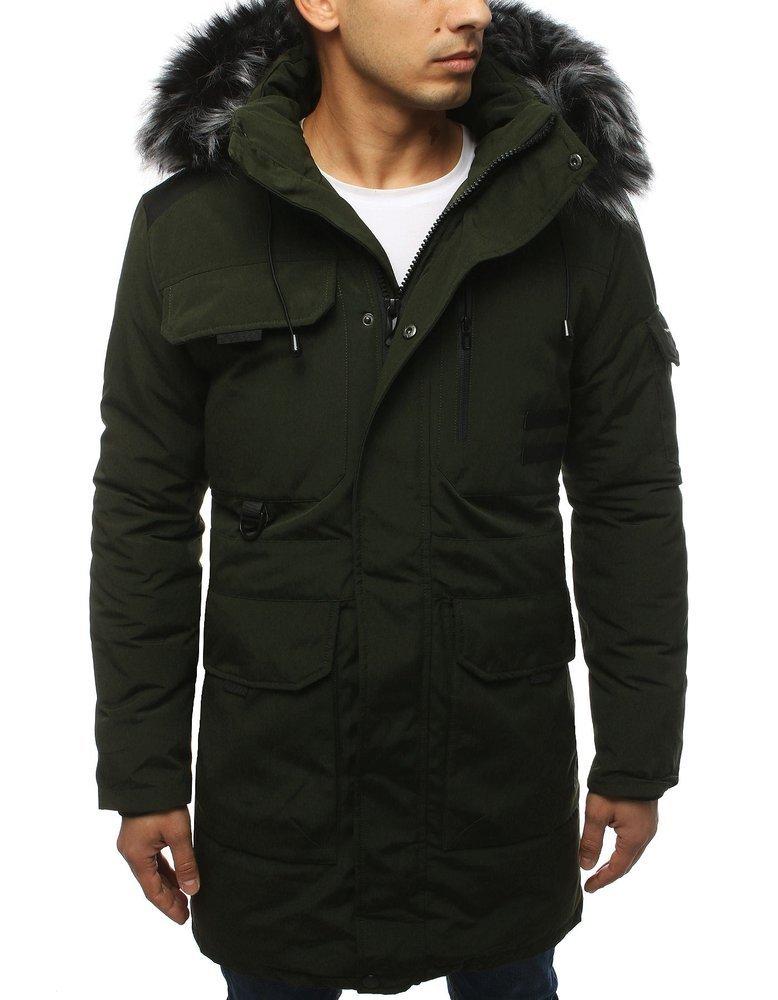 Štýlová pánska khaki bunda na zimu (tx3037)