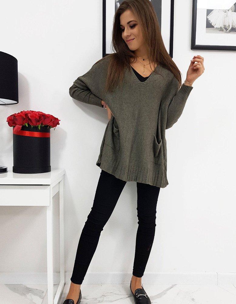 Sweter damski IVETTE khaki MY0268