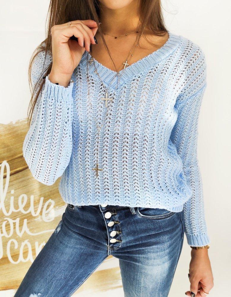 Sweter damski SHALOW błękitny MY0751