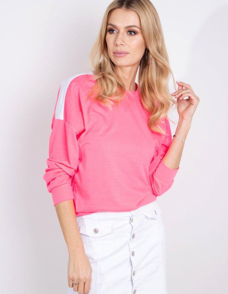 Bluza damska NEON neonowy róż BY0184