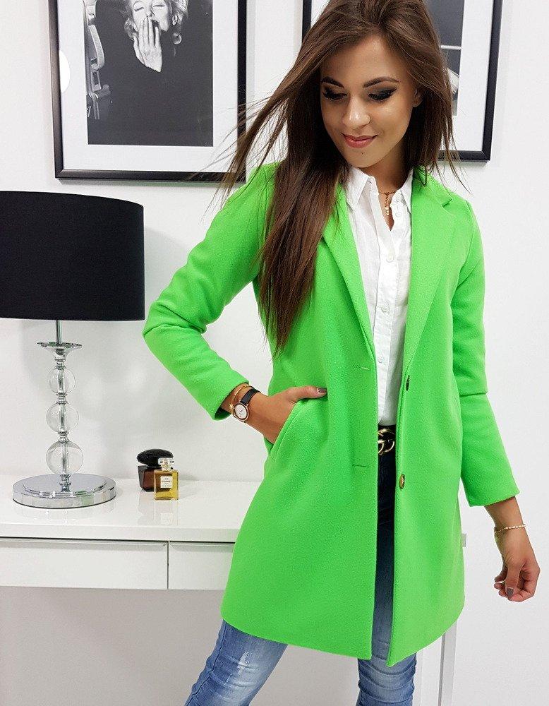 Dámsky kabát neón zelený